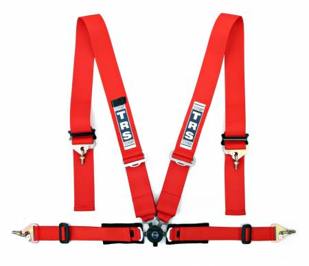 "TRS New Pro Superlite 2""/3"" - 4 Point Harness in Red"